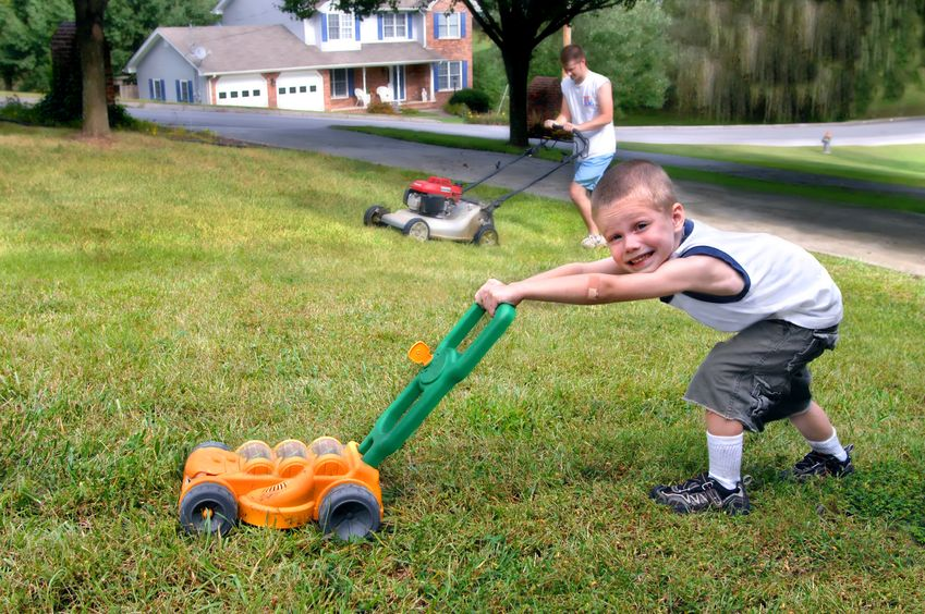 Lawn Mowing Safety: No Flip-flops